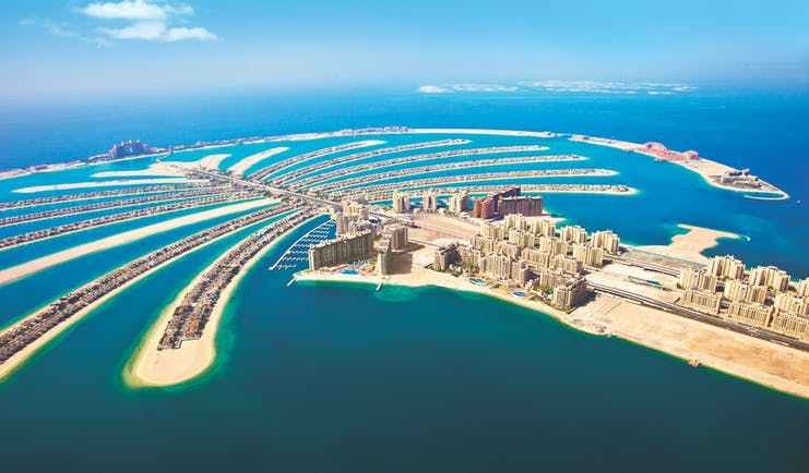 Fairmont the Palm Dubai aerial view of Palm Jumeirah