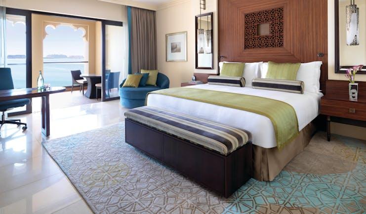 Fairmont the Palm Dubai bedroom balcony and sea view