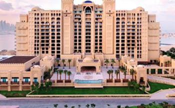Fairmont the Palm Dubai exterior large hotel complex with balconies