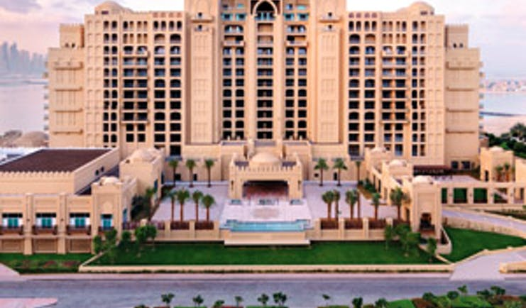 Fairmont the Palm Dubai exterior large hotel complex with balconies