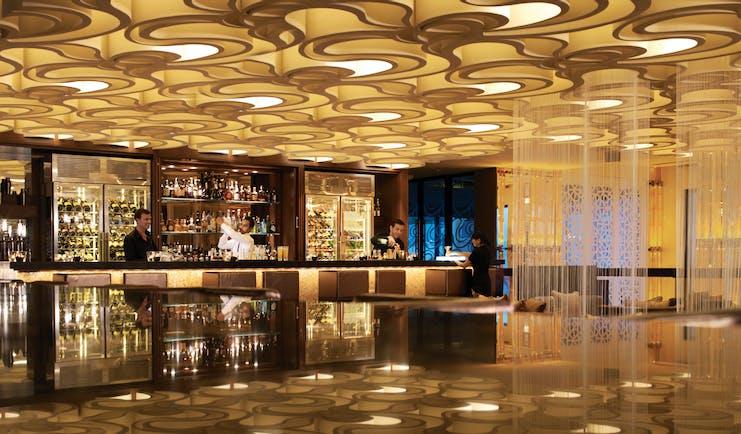 Fairmont the Palm Dubai lobby bar area