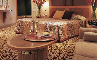 The Jumeirah Beach Hotel Dubai bedroom chairs and flowers