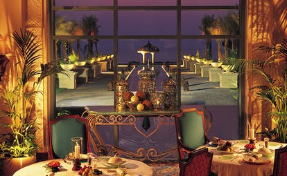 One and Only Royal Mirage Dubai restaurant with view of terrace