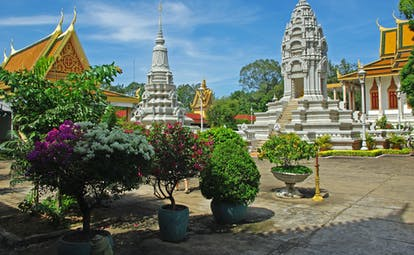 Royal Palace in Phnom Penh in Cambodia