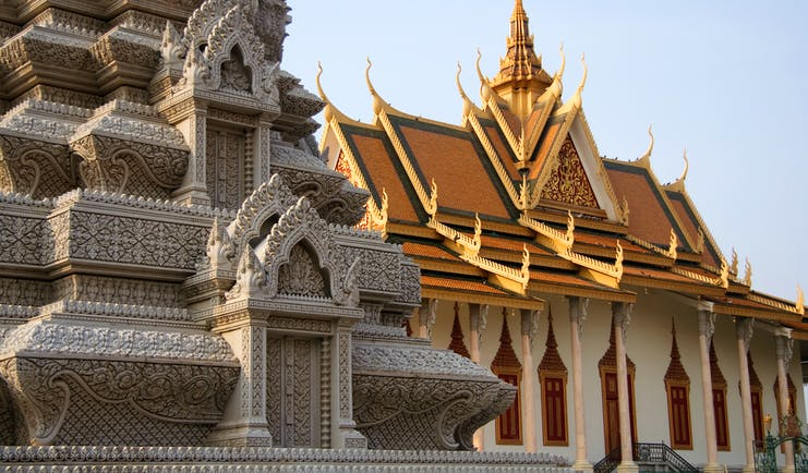 Silver Pagoda in the Royal Palace in Phnom Penh in Cambodia