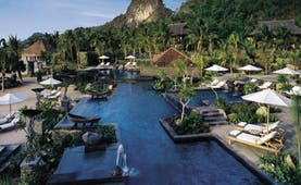 Four Seasons Langkawi Malaysia exterior pools hotel buildings tropical landscape