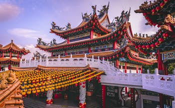 Thean Hou temple in Malaysia traditional architecture
