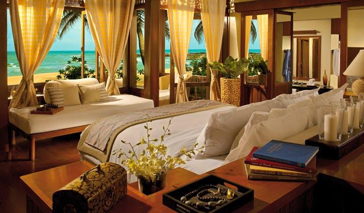 Tanjong Jara Malaysia Anjung room bed ornate décor candles