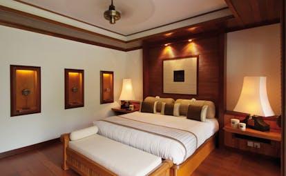 Tanjong Jara Malaysia Bumbung room bed ottoman modern décor
