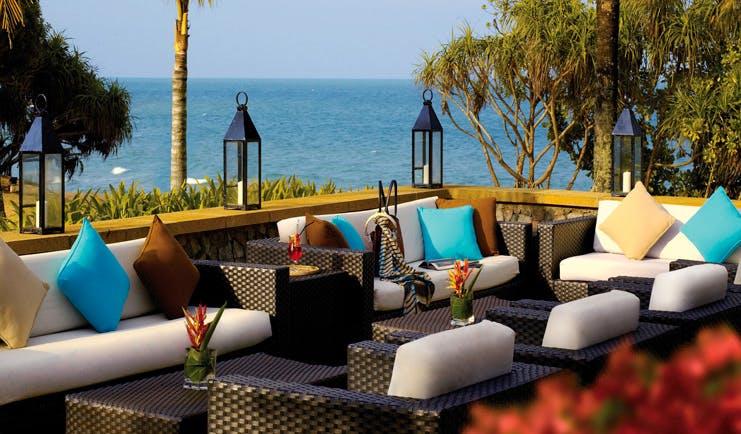 Tanjong Jara Malaysia terrace communal outdoor seating area sofas overlooking sea
