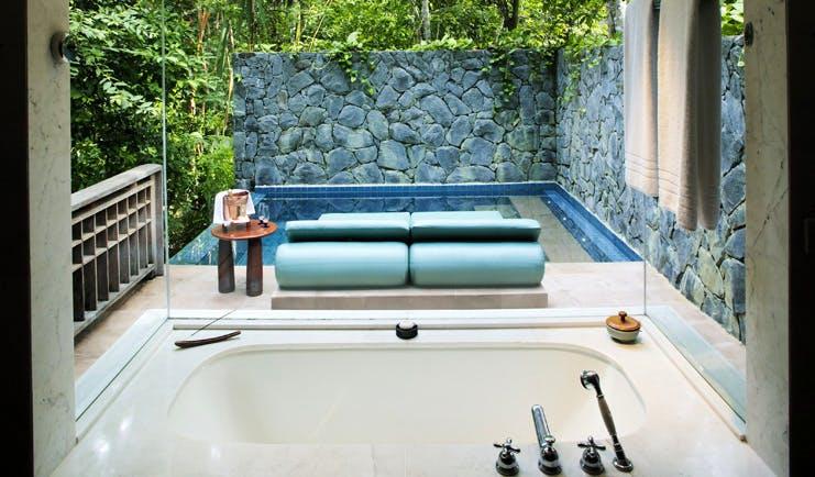 The Datai Malaysia pool villa bath tub private pool