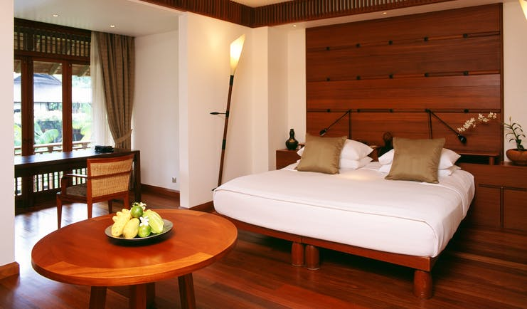 The Datai Malaysia villa bedroom bed window modern décor