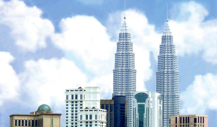 Ritz Carlton Kuala Lumpur exterior Kuala Lumpur skyline