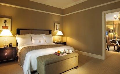 Ritz Carlton Kuala Lumpur premier suite bedroom bed modern décor