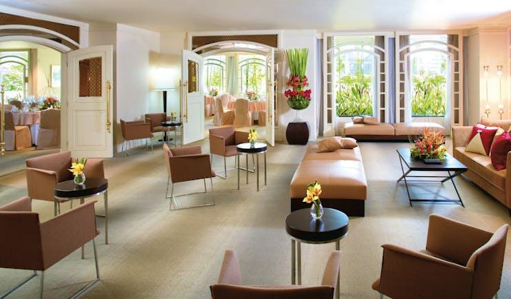 Mandarin Oriental Singapore garden suite event space lounge communal seating area