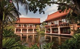 Anantara Hua Hin Thailand exterior hotel buildings overlooking ponds