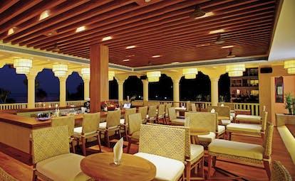 Centara Grand Beach Resort Thailand terrace bar at night outdoor seating area views