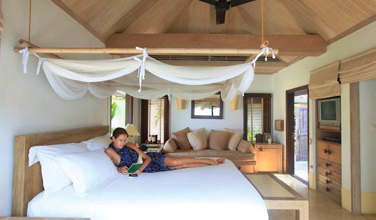 Evason Hua Hin Resort Thailand pool bedroom minimalist decor sofa