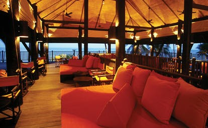 Evason Hua Hin Resort Thailand The Bar covered deck lounge area sofas ocean views