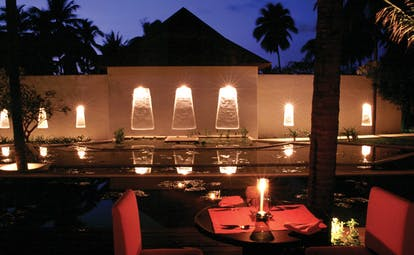 Evason Hua Hin Resort Thailand The Other Restaurant night time view outdoor dining