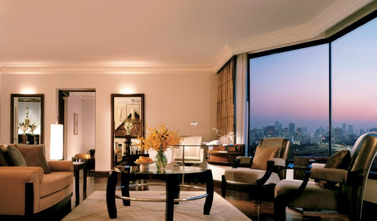 Grand Hyatt Erawan Bangkok Thailand grand executive suite lounge panoramic city view