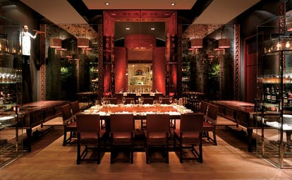 Grand Hyatt Erawan Bangkok Thailand restaurant dining room traditional Asian decor