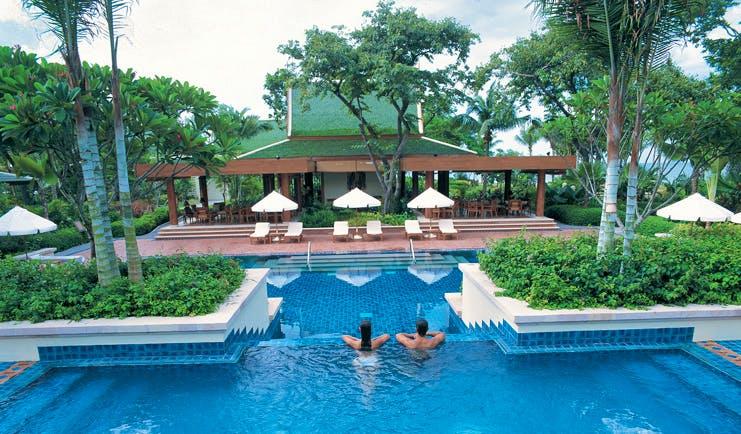 Hyatt Regency Hua Hin Thailand outdoor pool complex gardens loungers