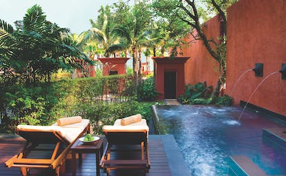 Hyatt Regency Hua Hin Thailand pool suite exterior private terrace and plunge pool spa treatments