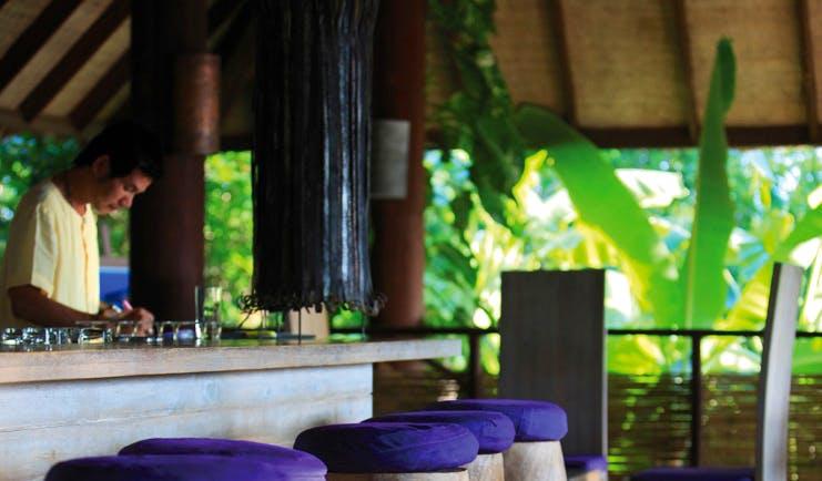Six Senses Samui Thailand drinks on the hill pavilion bar area