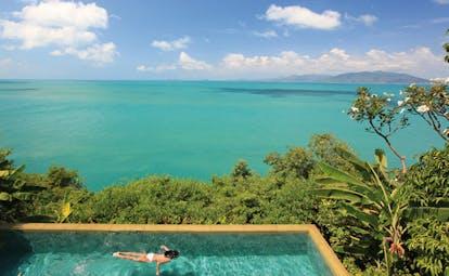 Six Senses Samui Thailand presidential villa aerial swimming pool ocean view