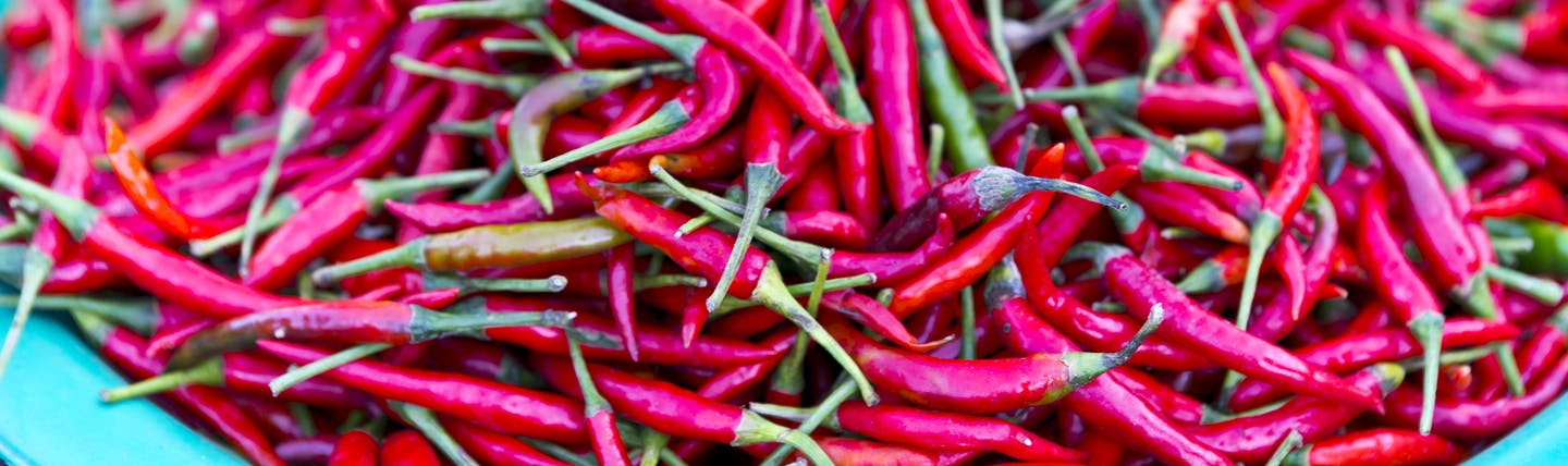 Chillies for sale at market in Thailand