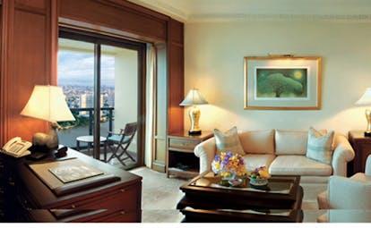 The Peninsula Bangkok Thailand balcony room lounge sofas balcony