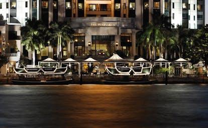The Peninsula Bangkok Thailand river front view of the hotel