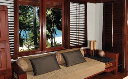 The Surin Phuket Thailand terrace sofa on outdoor terrace area