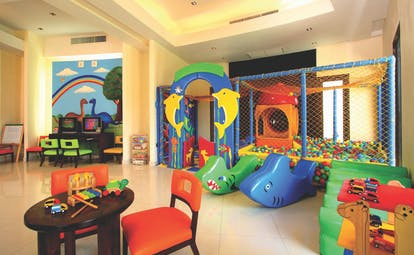 Vijitt Resort Thailand kids club indoor play area ball pit toys