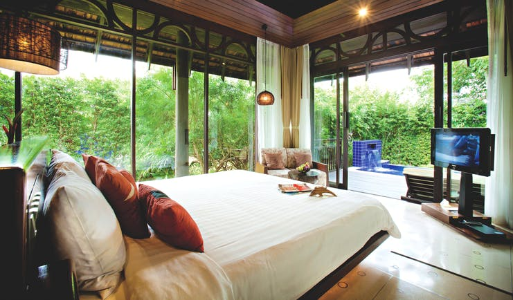 Vijitt Resort Thailand pool villa interior bed authentic décor access to private terrace and pool