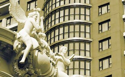 Caravelle Hotel Vietnam facade sculpture of cherubs