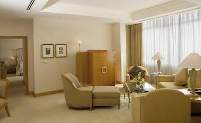 Caravelle Hotel Vietnam presidential suite sofa armchair chaise longue