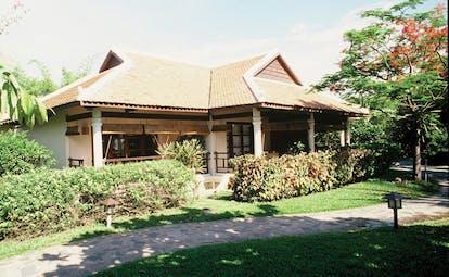 Evason Ana Mandara Resort Vietnam bungalow exterior with veranda and gardens