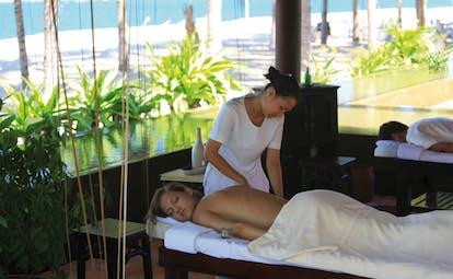 Evason Ana Mandara Resort Vietnam massage in spa with ocean view