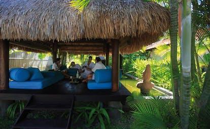 Evason Ana Mandara Resort Vietnam Sala spa outdoor spa area pond and gardens