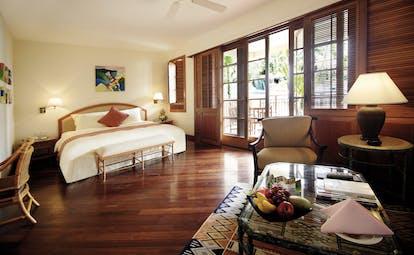 Furama Resort Vietnam ocean deluxe bedroom bed private terrace modern décor