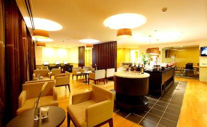 Liberty Central Saigon bistro, bar, modern decor, chairs and tables