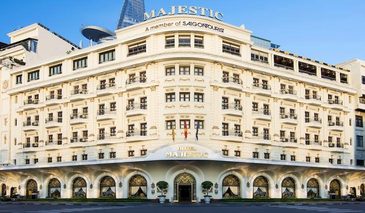 Majestic Hotel Saigon exterior, grand hotel building
