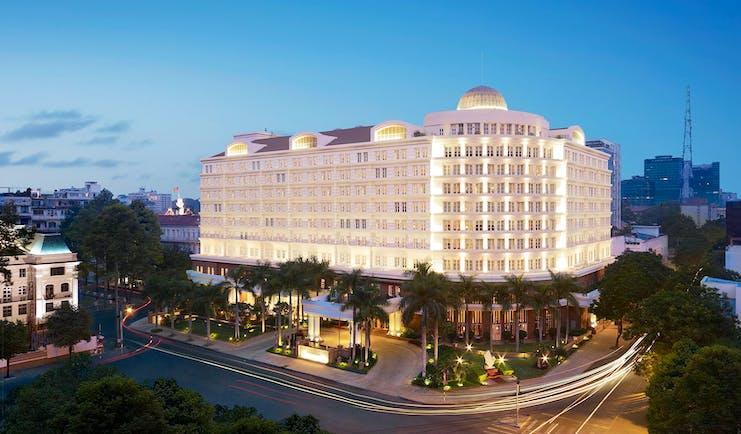 Park Hyatt Saigon exterior, hotel building, grand architecture, city in background