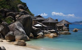 Six Senses Ninh Van Bay Vietnam beachfront villas surrounded by large rocks