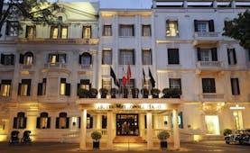 Sofitel Metropole Hanoi exteriorm hotel building, colums, entrance