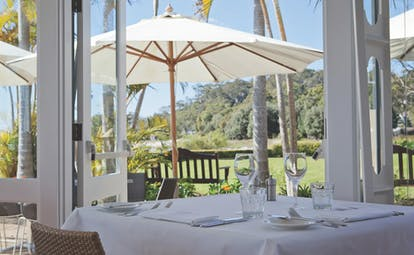 Anchorage Port Stephens New South Wales and Sydney restaurant with doors to gardens
