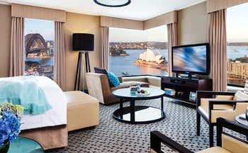 Four Seasons New South Wales and Sydney bedroom with view of the opera house