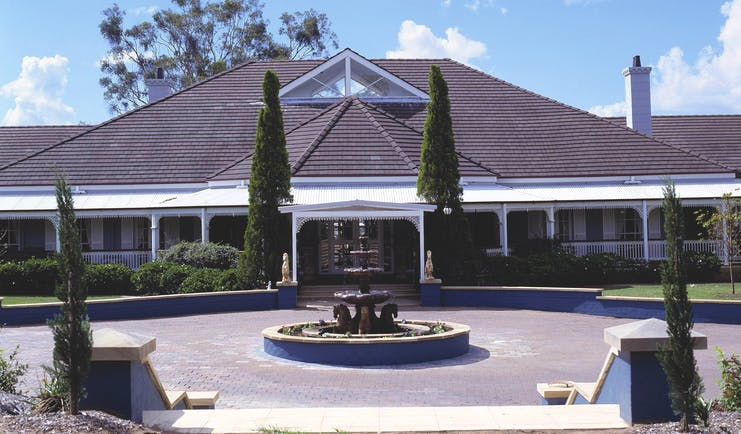 Sebel Kirkton Park New South Wales exterior large white building with fountain